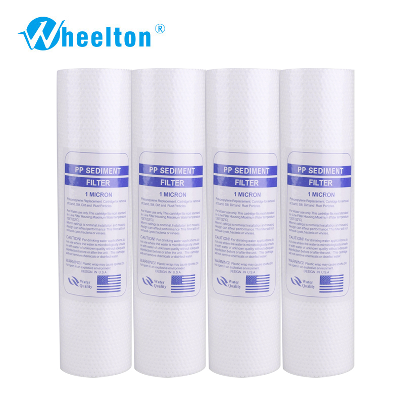 Water Filter Sediment polypropylene filter 10  1 Micron PP Replacement  filter Cartridge Reverse Osmosis RO 4/lot FreeShippingWater Filter Sediment polypropylene filter 10  1 Micron PP Replacement  filter Cartridge Reverse Osmosis RO 4/lot FreeShipping
