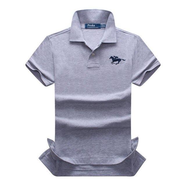 Original Brand Proka Pnordy Polo Men's Camisa Polo Masculino 100% Cotton Classic Embroidery Horse Logo Short Sleeve Casual Polos
