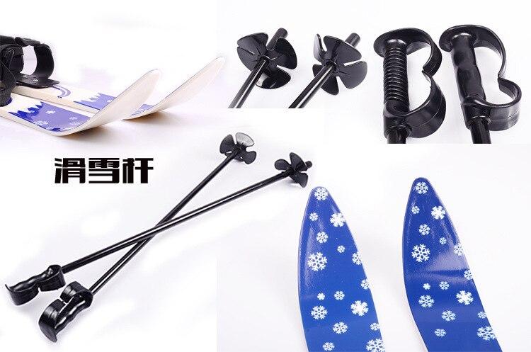 1 pc chine offre spéciale Ski Snowboard avec bâtons de Ski fixations bottes pour Junior enfants enfants débutant - 4