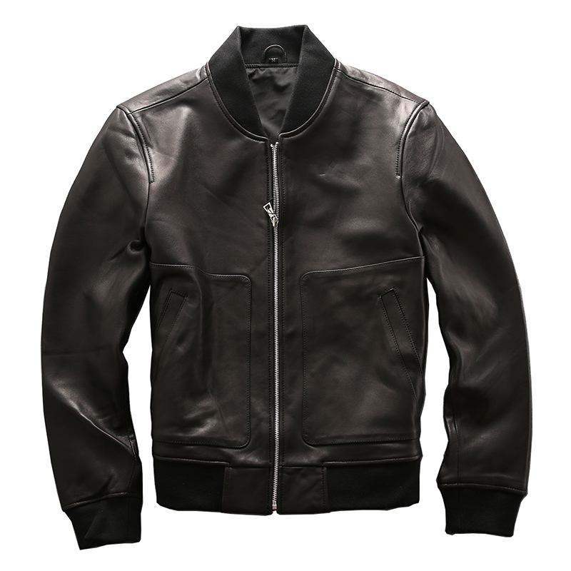 mens Genuine suede leather jacket male sheepskin coat men ...