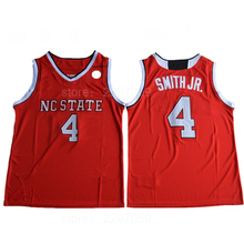 Ediwallen Men Basketball 4 Dennis Smith JR. Jersey Men Red White NC State  Wolfpack College 2d1e7b074