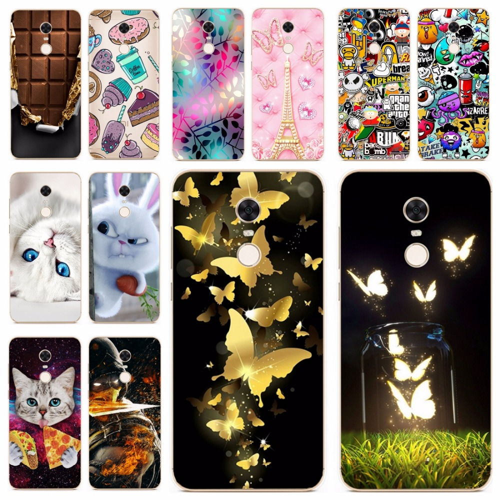 wholesale dealer 43e6b d503a Silicone Cover For Xiaomi Redmi 5 Plus Case 5.99' Printing Animal Case for  Xiomi Redmi 5 Plus Cover Redmi 5 5.7 inch Phone Cases
