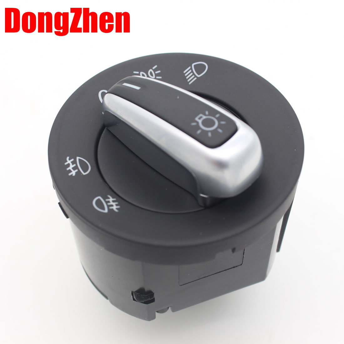 Chrome Headlight Control Switch Buttons Fit For VW Jetta Golf GTI MK5 MK6