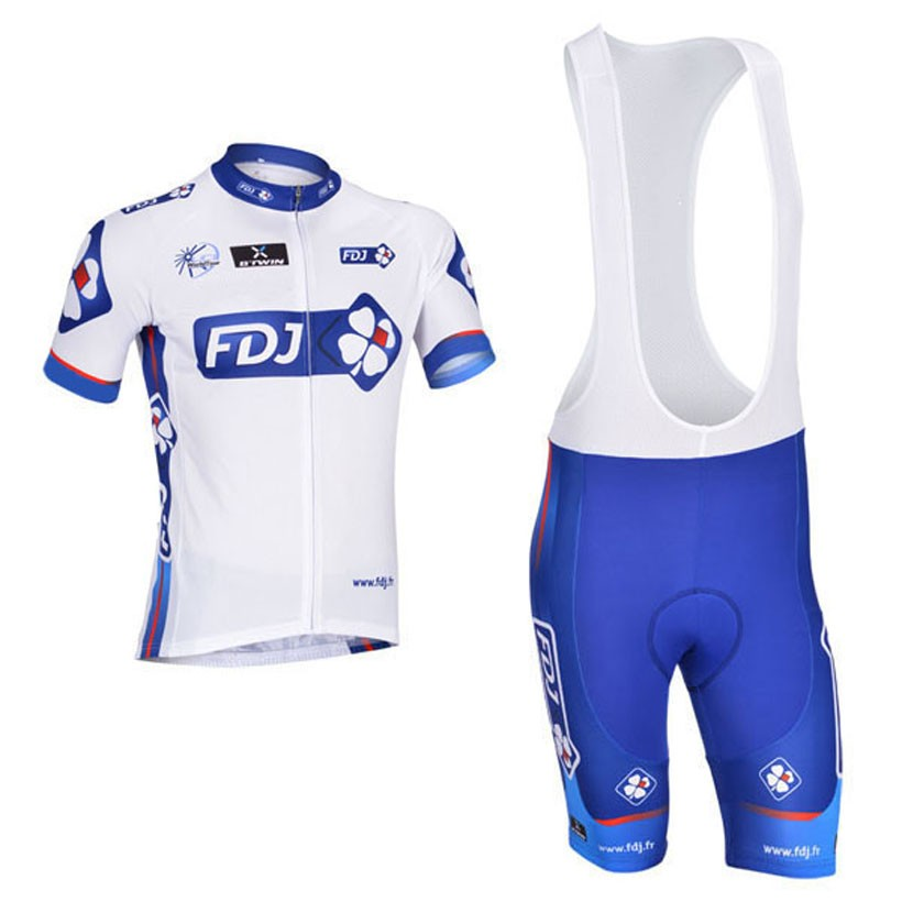 2015 FDJ cycling jersey quick dry cycling sets short sleeve jersey and 3d gel bib short with sleeve Breathable Bicycle Wear 2015 fdj 2015 fdj finger fdj 218 230