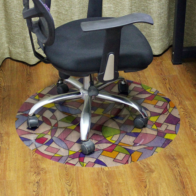 Swivel Chair On Carpet Adjustable Drafting Desk Mat Wood Floor Protection Computer Mats Customize Pvc Non Slip