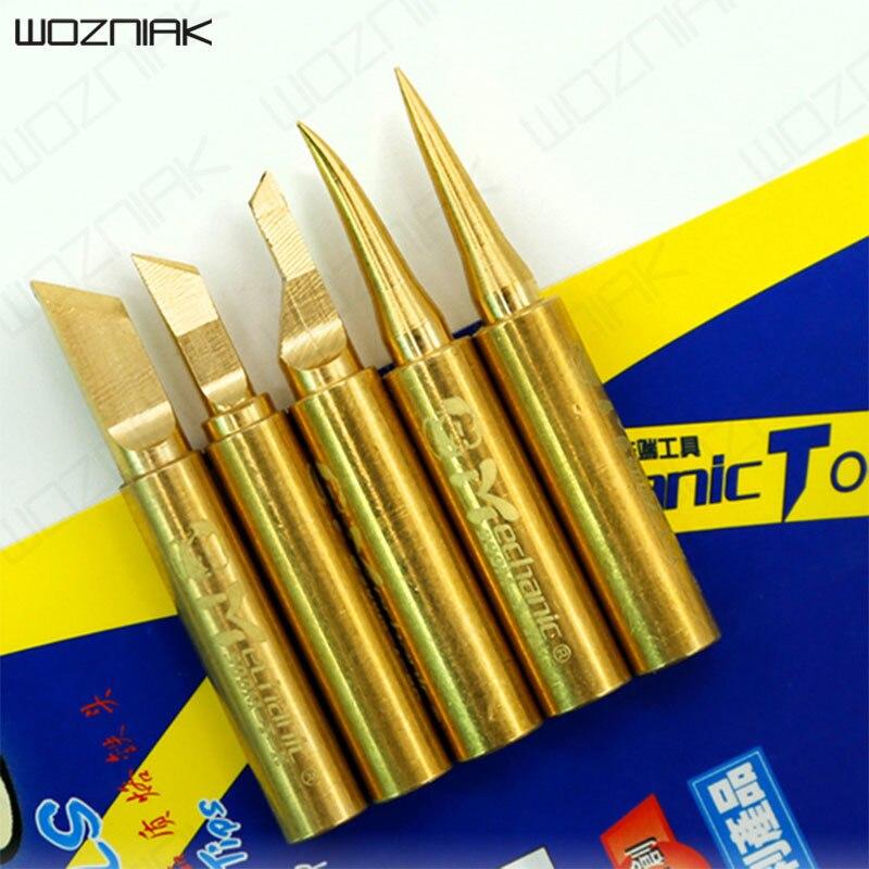 Wozniak Repair Precise Pure Copper Temperature Soldering K Iron Tip 900m-t-i Head Electronic Component Iron 900m-t-is 900m-t-k