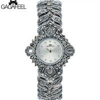 100 925 Sterling Silver Watch Lady Women Thail Silver Wristwatch Quartz Bracelet Watch Silver Watch Woman