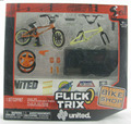 NEW Flick Trix Bmx Finger Bike Deluxe Package UNITED FT bikeshop Alloy model bicycle Mini toy for boy