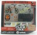 NUEVA Finger Flick Trix Bmx Bike Deluxe Paquete PIES UNIDOS bikeshop Aleación modelo de bicicletas Mini juguete para niño