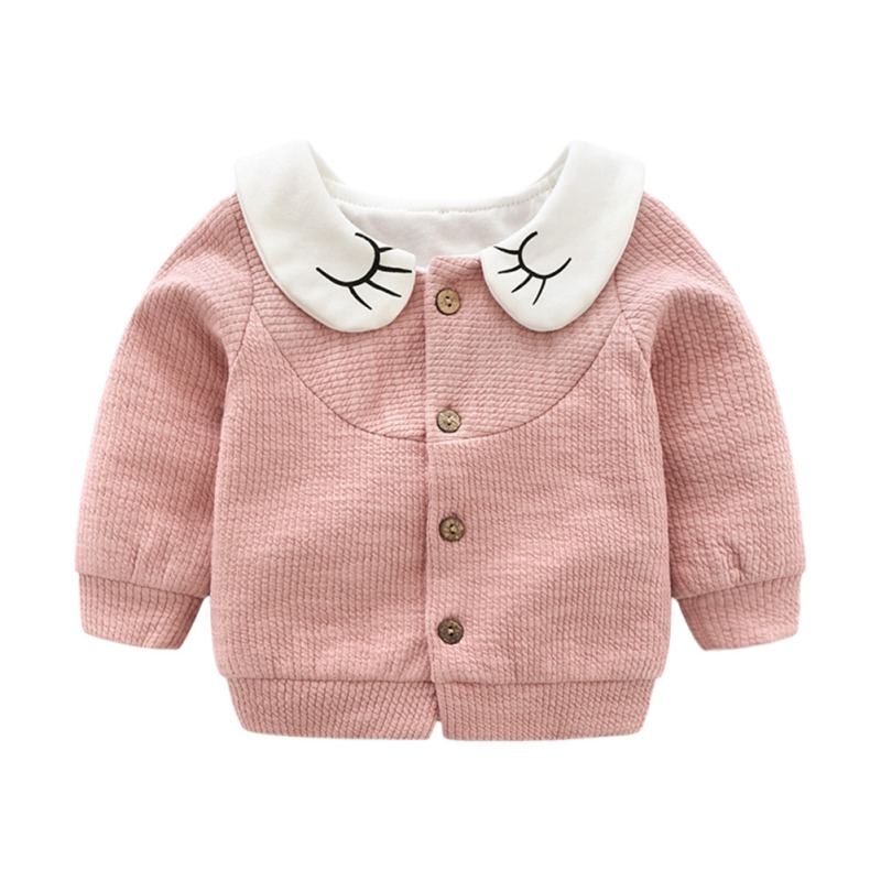 Baby Coat Cardigan Infant Girl Autumn Winter Sweater for Kids 1-4T Knit