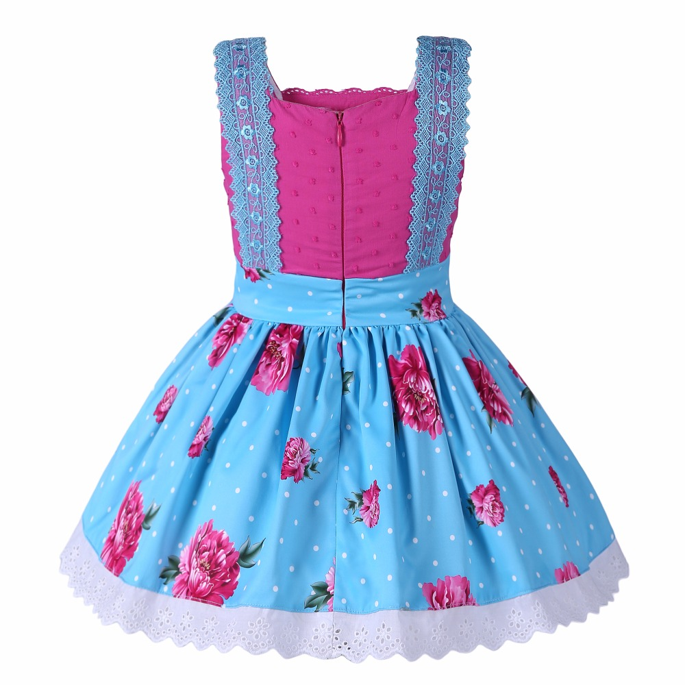 Pettigirl Flower Girl Dresses Blue Fancy Clothing Sleeveless With Headwear Boutique Gowns For Princess Dress G DMGD002 1363 In From Mother