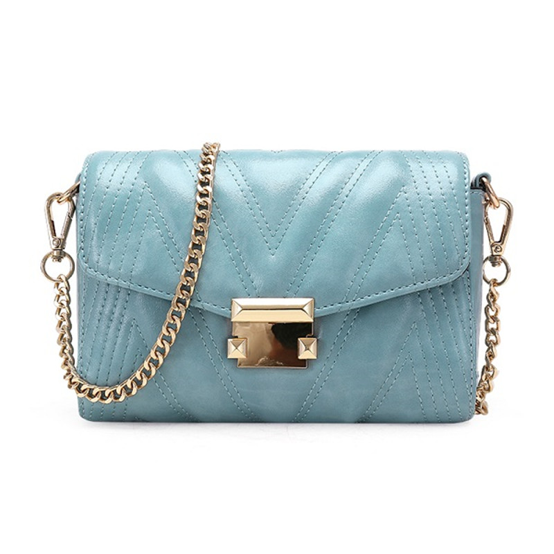 Luxury woman handbags 2019 high quality brand women bags famous designer gold chain female Messenger bag shoulder bag in Top Handle Bags from Luggage Bags