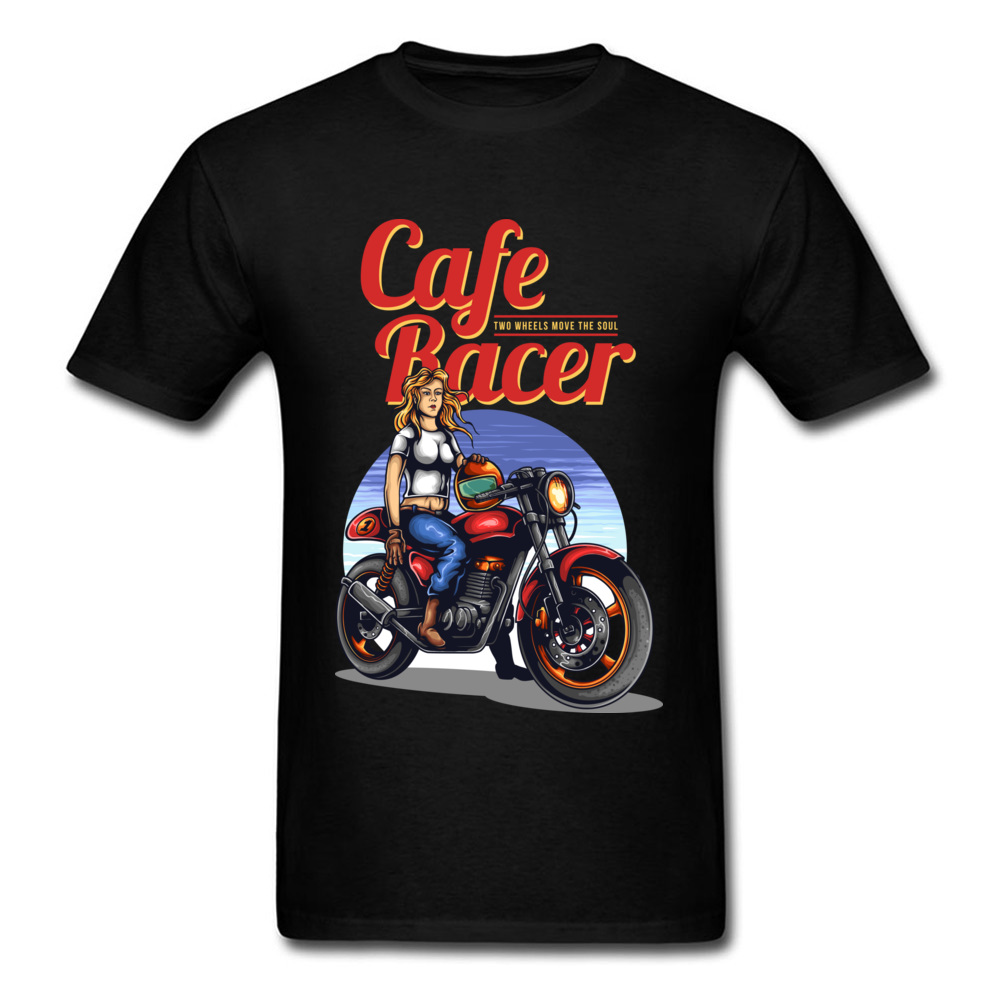 Retro Motorcycle Cafe Racer Men T-Shirt Short Sleeve 100% Cotton Treavl Tshirt Best Gift American Big Size 3XL Free Shipping image