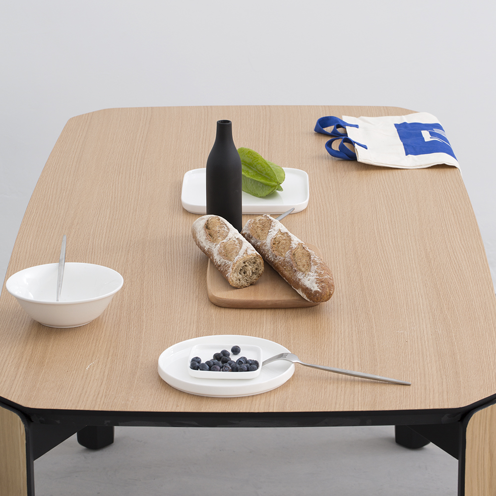 modern dining table with 1.6 meter European white oak assemble scandinavian furniture wood design by LaSelva Creative Studio