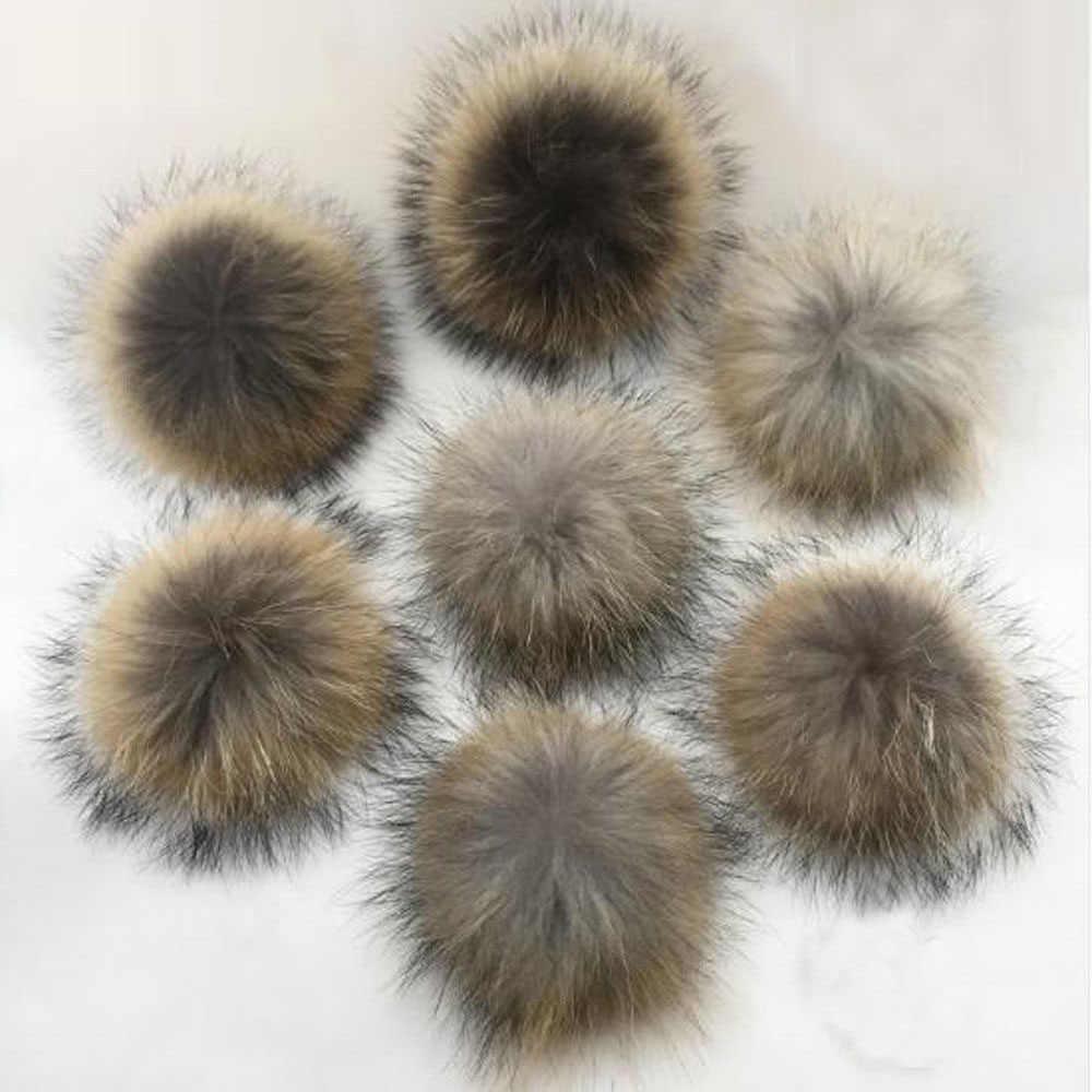 9329dd4eba4 Faux Raccoon Fake Fur Hair Huge Ball Fluffy Pompom Pendant For Hat Bag  Shoses Clothes Scarf