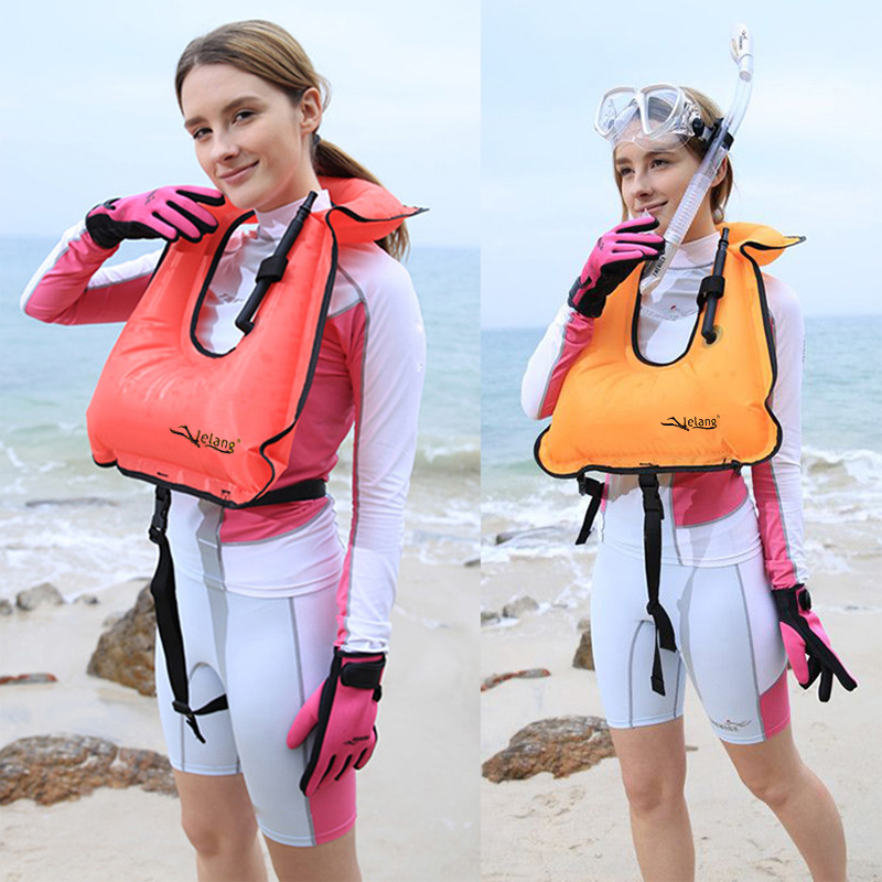 Lelang adulte vie gilet gonflable snorkeling gilet submersible vie gilet