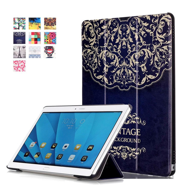 Smart Cover leather case For Huawei MediaPad M2 10 M2-A01W M2-A01L 10.1 10.1 Tablet Case Flip Cover Protective shell image