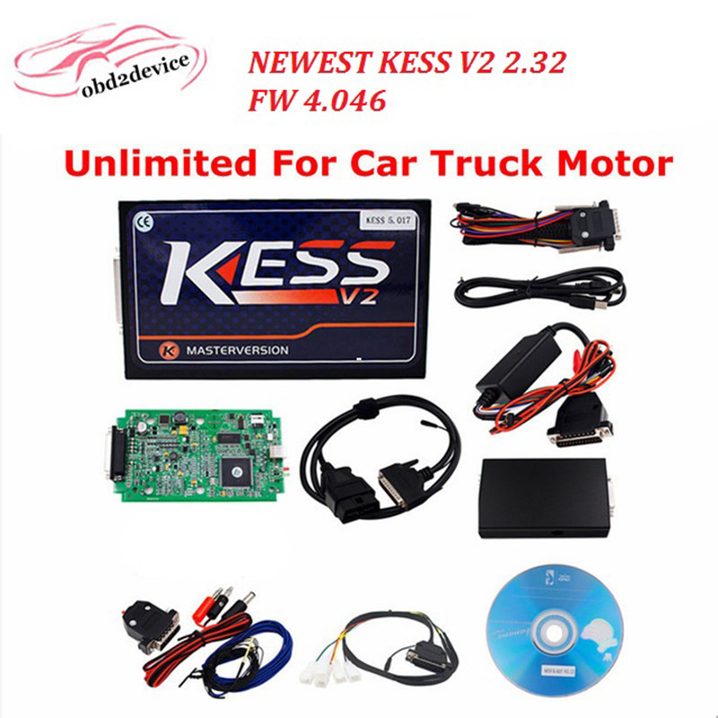 New Arrival KESSV2 latest Version OBD2 Tuning Kit No Token Limitation Kess V2 for truck and car version Fast & Free Shipping unlimited tokens ktag k tag v7 020 kess real eu v2 v5 017 sw v2 23 master ecu chip tuning tool kess 5 017 red pcb online