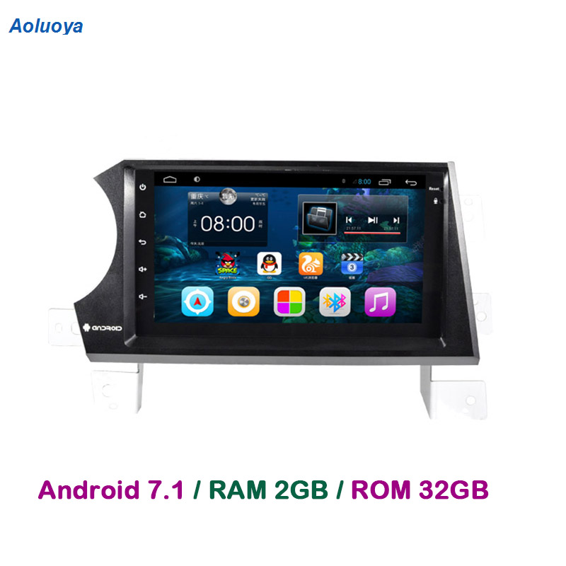 Aoluoya RAM 2 GB + 32 GB Android 7.1 lecteur DVD de voiture Radio GPS Navigation pour Ssangyong Kyron Actyon 2006-2011 Audio multimédia DAB +