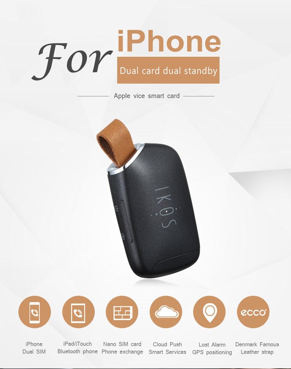 bilder für Neueste bluetooth 4,0 adapter app zwei sim-karte unterstützung für iphone dual-karte funktion für apple iphone ipad