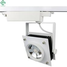 LED Track Light 30W COB Square Decorative kitchen rail Lights Lamps For Shoes Clothes Shop Store Lighting Pendants Kits