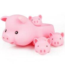 Новая милая розовая свинка детская водная игрушка для маленьких девочек и мальчиков Ванна мультфильм игрушка четыре шт набор