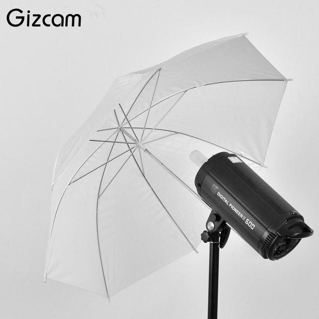 """Gizcam 33"""" 83cm Photo Studio Video Soft Umbrella Photography Translucent White Flash Light Diffuser Umbrella Camera Accessories"""