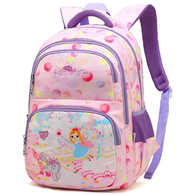 defe610de7c8 Модная Детская Рюкзак Школьные сумки принцессы для девочек ортопедические школьные  сумки рюкзак начальной школы рюкзаки Дети