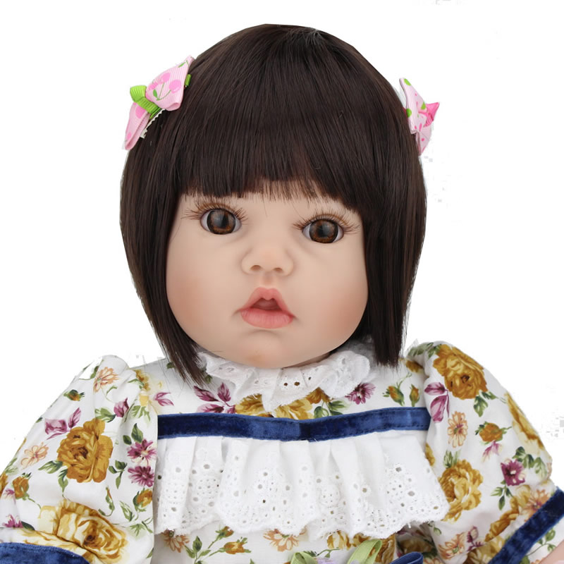 50cm Silicone Reborn Babies Dolls Lifelike Accompany Sleeping Girl Boy Baby Doll Toy for Children Birthday New Year Gifts