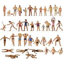 40 шт. различных поз 1: 87 плавательные фигурки хо масштаб плавательный человек пляж расположение пейзажей миниатюрный P8720