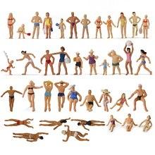 40 قطعة من الأشكال المختلفة 1: 87 شخصية للسباحة هي مقياس السباحة للأشخاص الشاطئ مشهد تخطيط مصغرة P8720