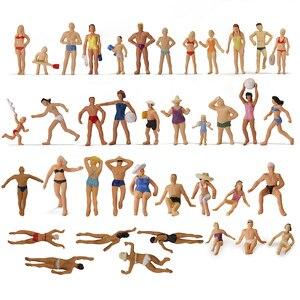Image 1 - 40 sztuk różnych pozach 1: 87 pływanie figurki HO skala pływanie ludzi sceneria plażowa układ miniaturowy P8720