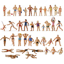 40pcs Different Poses 1:87 Swimming Figures HO Scale Swimming People Beach Scenery Layout Miniature P8720