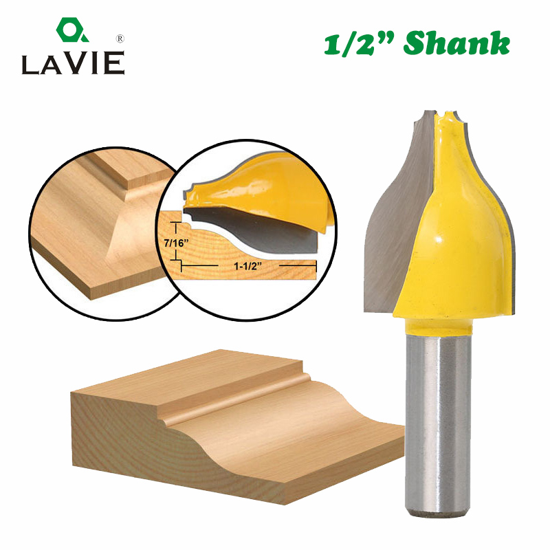 LAVIE 1pc 12mm 1/2 Shank Vertical Panel Raised Ogee Bead Router Bit Woodworking Door Line Milling Cutter For Wood Tools MC03146