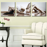 No Frame 3 Piece Goddess of Fitness Canvas Painting Home Decoration Pictures Wall Pictures For Living Room Modular Pictures