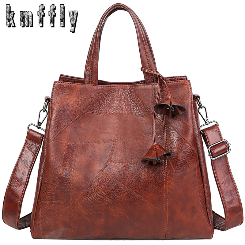 Retro Women Handbag Soft Leather Female Causal Tote High Capacity Lady Crossbody Bag Fashion Lightweight Shoulder Bags For Women