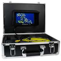 7inch TFT Color Sewer Pipe Inspection Snake Video Camera System GSY9200D 12LED 20M Stainless Waterproof Anti-corrosion Pipeline