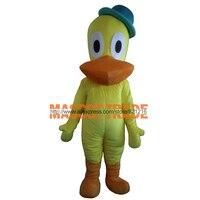 Pato Vịt Mascot Costume Cartoon Character Costume Lông Linh Vật Costume Adult Fancy Ăn Mặc Trang Phục Miễn Phí Vận Chuyển