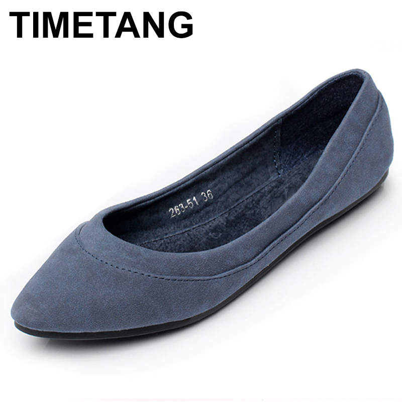 TIMETANG Ladies Shoes Ballet Flats Women Flat Shoes Woman Ballerinas Large Size Casual Shoe Sapato Womens Loafers Zapatos C333 flat shoes women pu leather women s loafers 2016 spring summer new ladies shoes flats womens mocassin plus size jan6