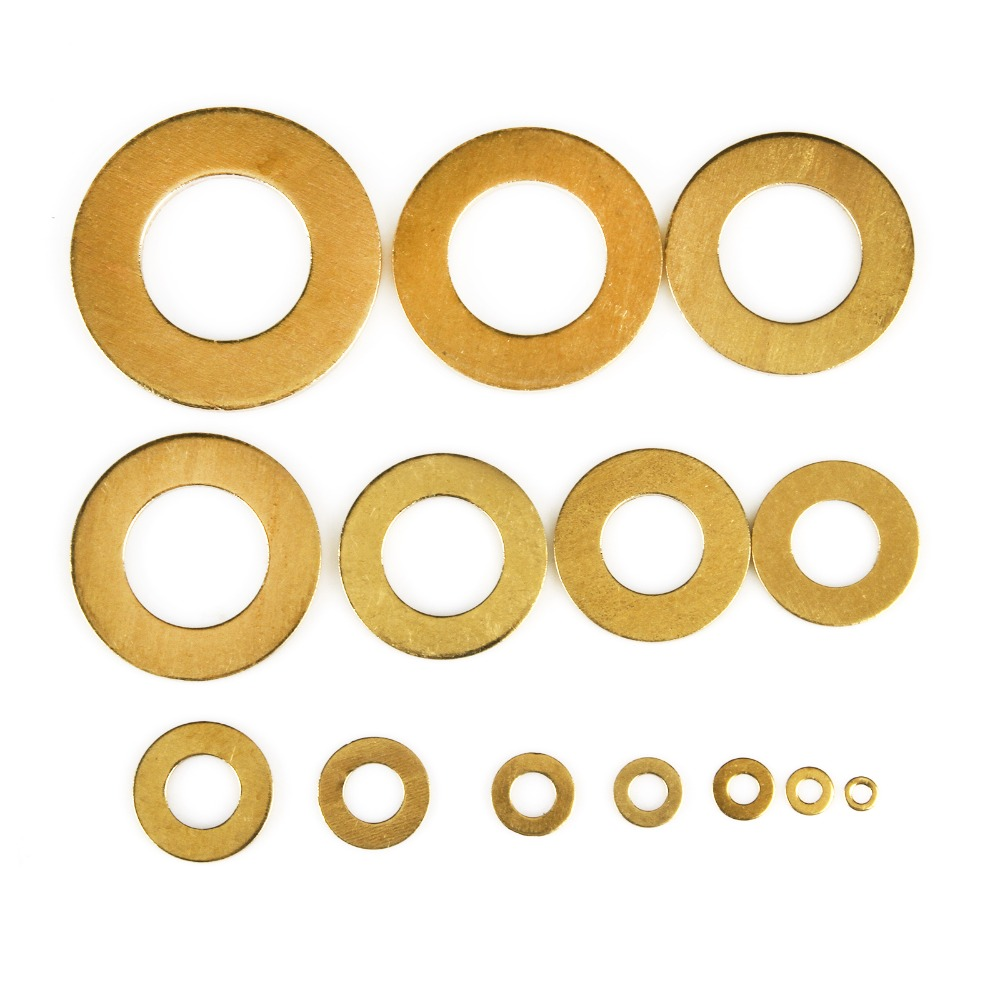 5-50PCS Brass washer M2.5/M3/M4/M5/M6/M8/M10/M12/M14/M16/M20/M22/M24 Brass flat washer set /brass flat gasket Choose image