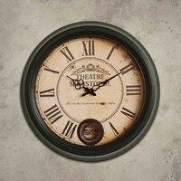 Large Creative Living Room Wall Clock Vintage Metal Decoration Clock Designer Relogio Parede Time Reloj Cocina Adornment 50A0877