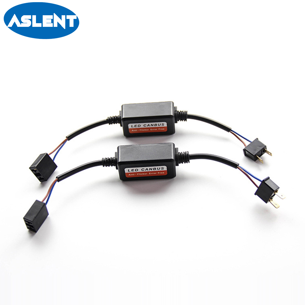 aslent 2pcs error free canbus decoder wiring for led car headlight bulb  kits fog lamps h4 h7 h1 h11 9006 9007 9005 anti-flicker - aliexpress com -  imall com