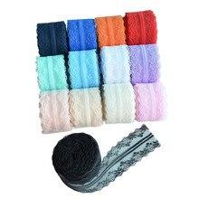 4cmx10M No Stretch Lace Trim Ribbon DIY Garment Tissu Fabric Accessories For Sewing Curtain Needlework
