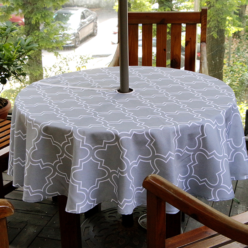 UFRIDAY Round Outdoor Umbrella Tablecloth Zipper Geometric Floral Table  Cover Modern Simple Hotel Waterproof Table Cloth 150cm