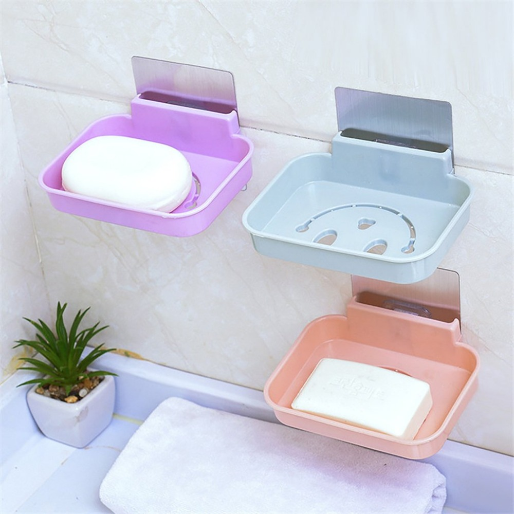 Fashionable Modern Home Bathroom Soap  Holder Rack Strong Suction Cup Type Soap Basket Tray Organizer Dropshipping