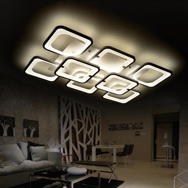 fernbedienung moderne led deckenleuchten wohnzimmer schlafzimmer luminarias para sala dimmen led deckenleuchte deckenleuchten