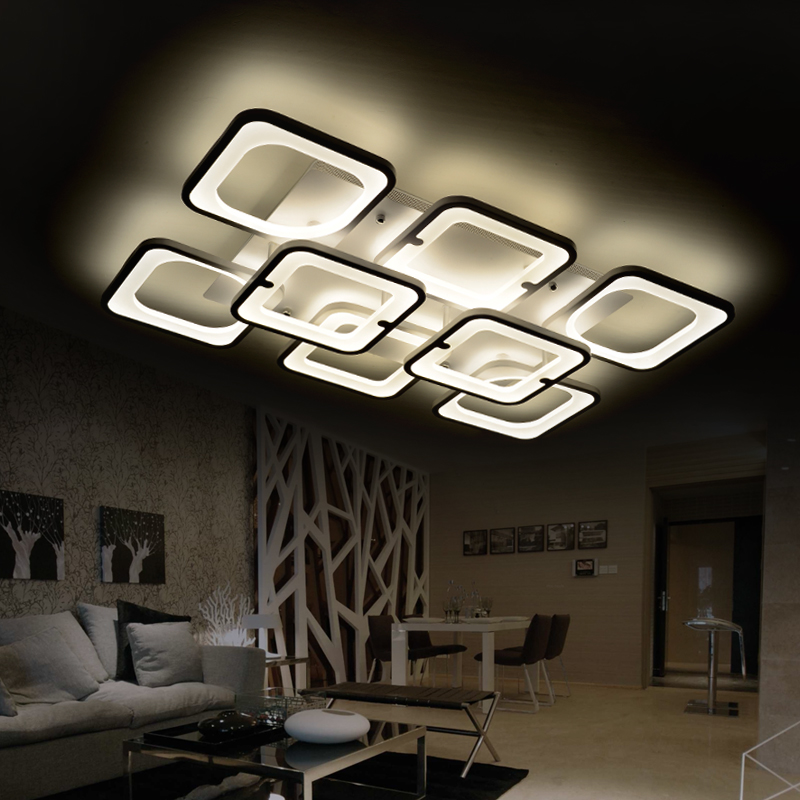 remote control modern led ceiling lights living room bedroom luminarias para sala dimming led. Black Bedroom Furniture Sets. Home Design Ideas