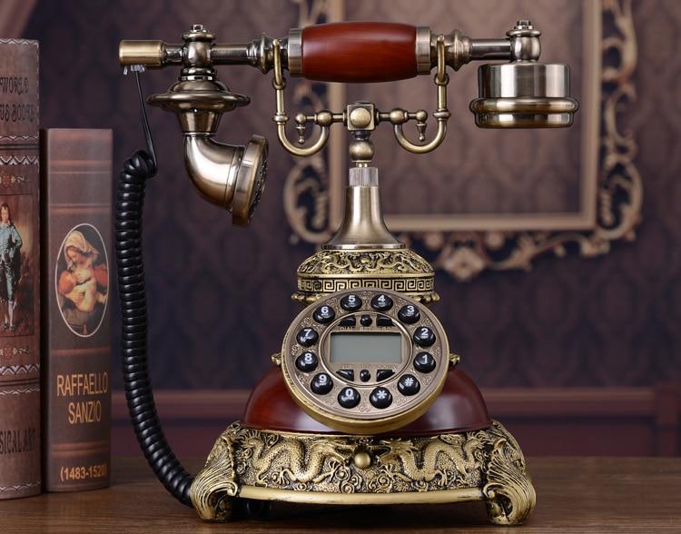 European Antique Telephones American Retro Fashion Creative Home Office Landline Telephones