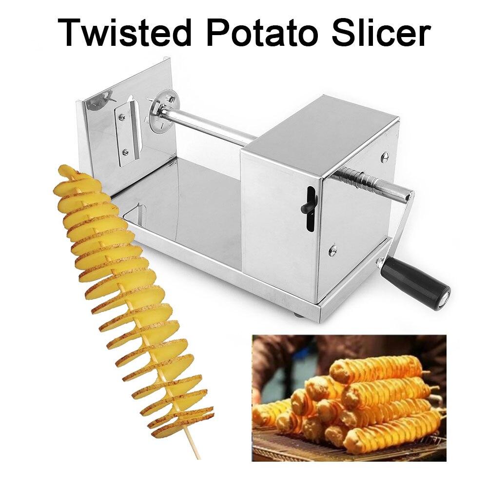 1 шт. нержавеющая сталь ручной спиральный картофельные чипсы Твистер слайсер резак торнадо кухонные принадлежности для барбекю питание