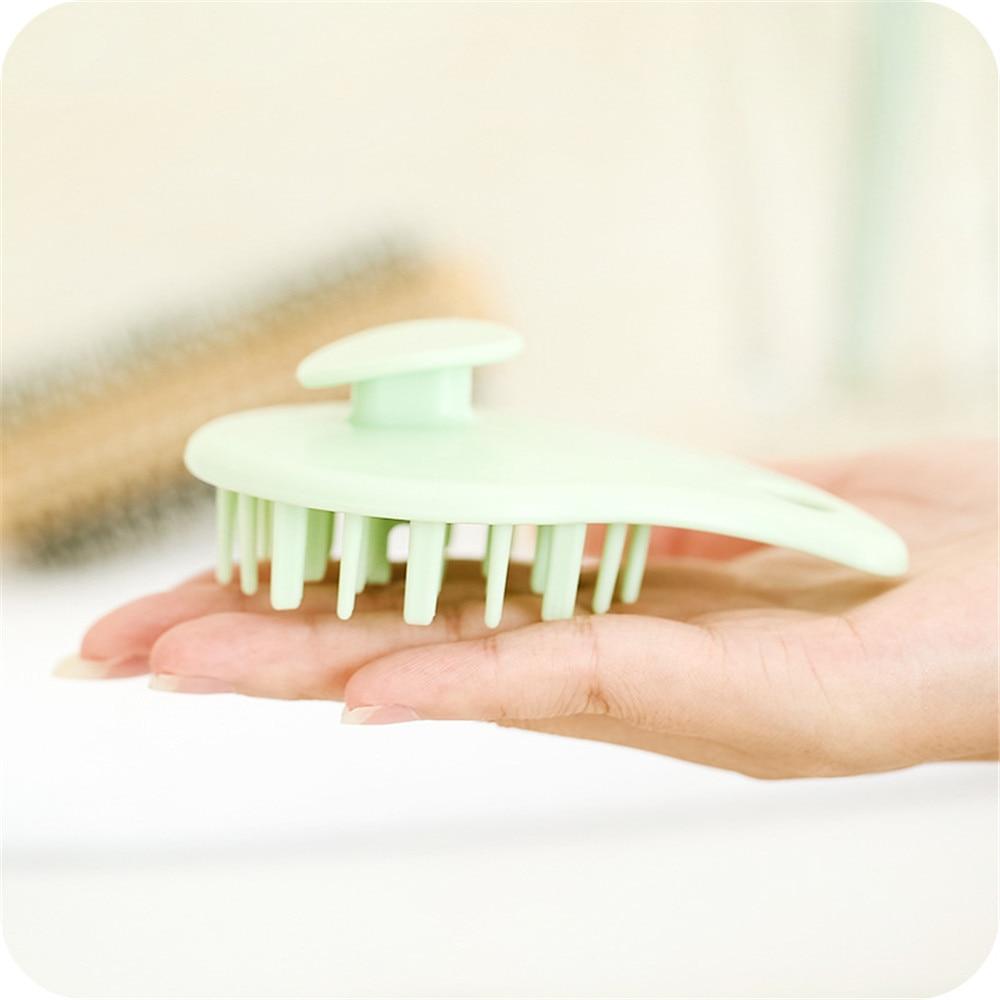 Hair Shampoo Scalp Brush Body Massage Brush Comb Conditioner Clean Head Care massage Bathroom Accessories 2018